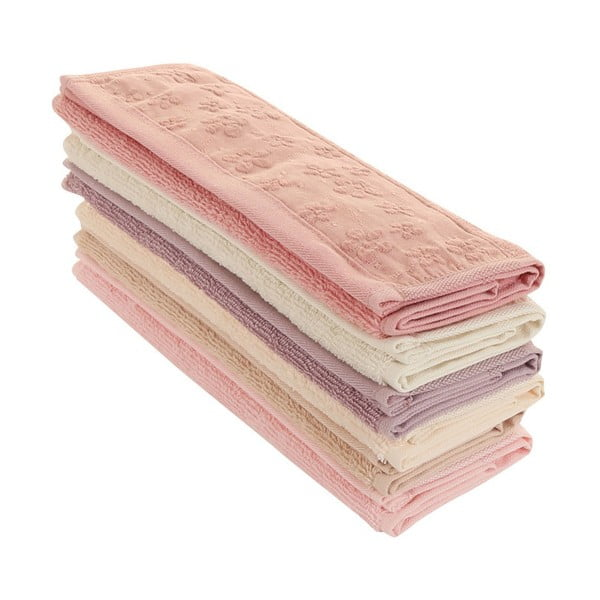 Sada 6 ručníků Papatya, 30x50cm