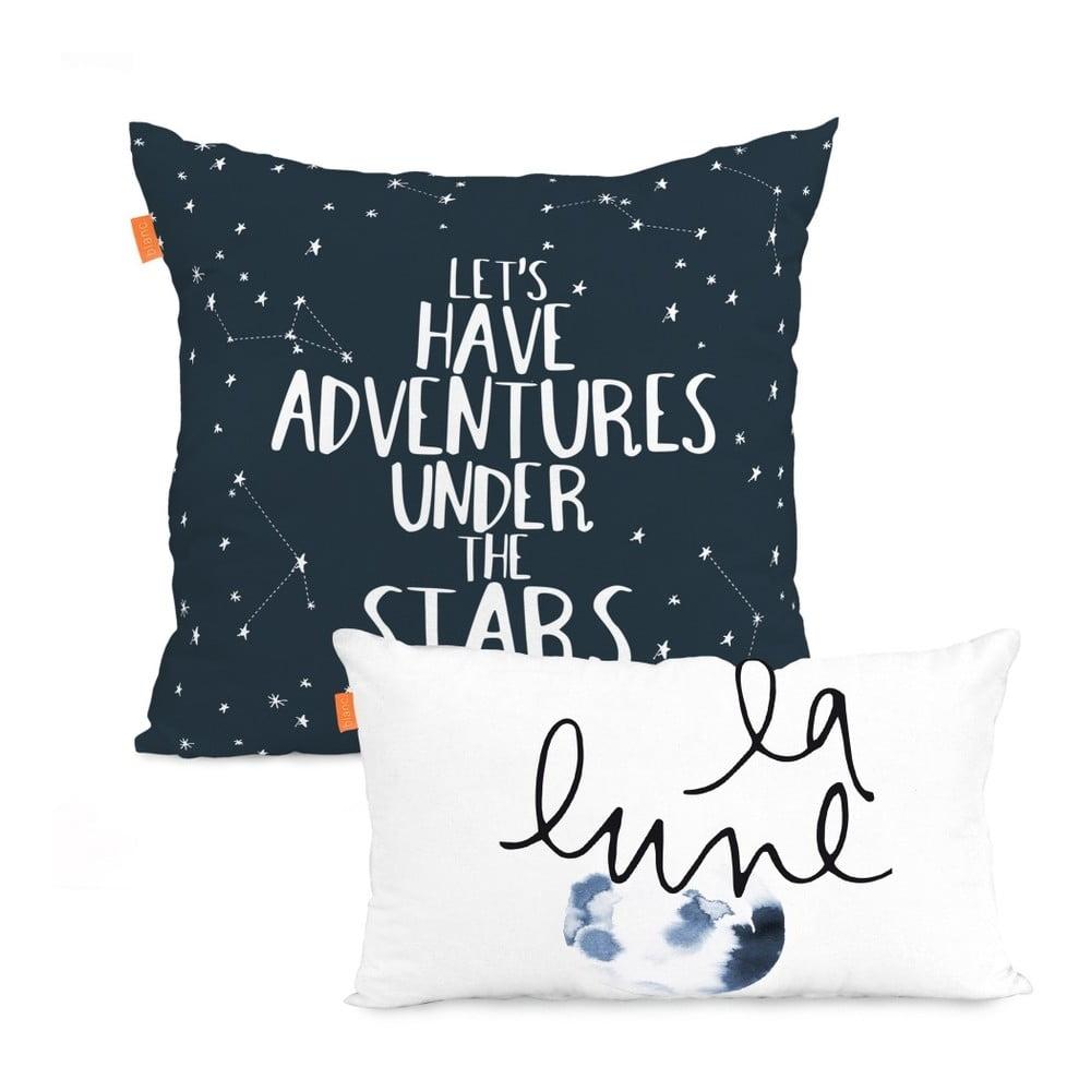 Sada 2 bavlněných povlaků na polštář Blanc Constellation, 50 x 50 cm