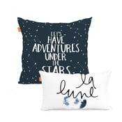 Sada 2 bavlněných povlaků na polštář Blanc Constellation
