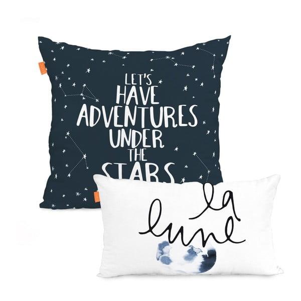 Sada bavlněných povlaků na polštář Blanc Constellation