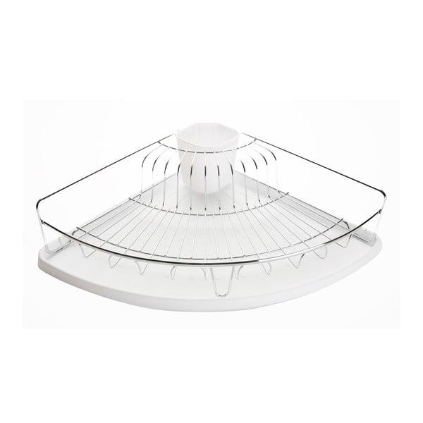 Biały narożny ociekacz na naczynia Versa Plate Rack White