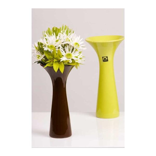 Váza Loira 30 cm, zelená