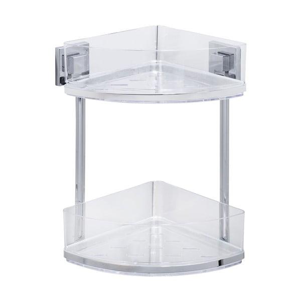 Podwójna półka narożna z przyssawką Wenko Vacuum-Loc, 19,5x28cm
