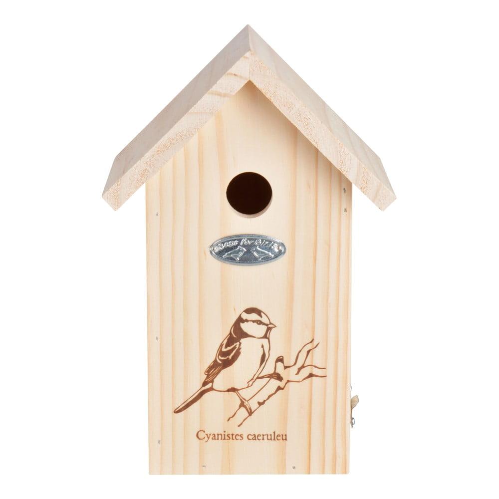 Dřevěná ptačí budka se sýkorkou Esschert Design, výška27.3 cm