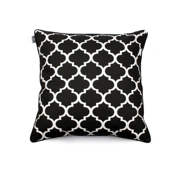 Față de pernă alb - negru WeLoveBeds Clover, 60 x 60 cm