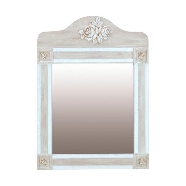 Nástěnné zrcadlo Wooden Beige, 56x77 cm