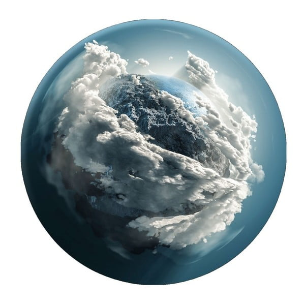 Nástěnná dekorace Styler Ring Clouds, ø70cm