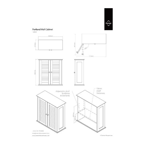 Nástěnná skříňka Premier Housewares Frame