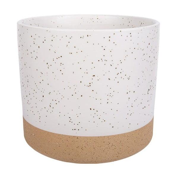 Caps fehér-barna kerámia kaspó, magasság 14 cm - Vox