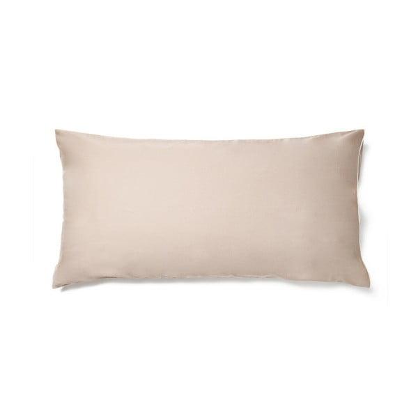 Béžový povlak na polštář z bavlněného saténu Casa Di Bassi Basic, 40x80cm