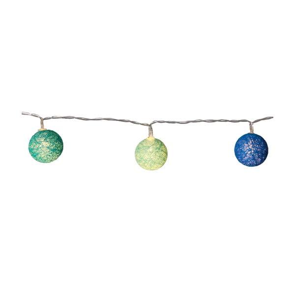 Modro-zelený světelný LED řetěz Best Season Crystal, 10 světýlek