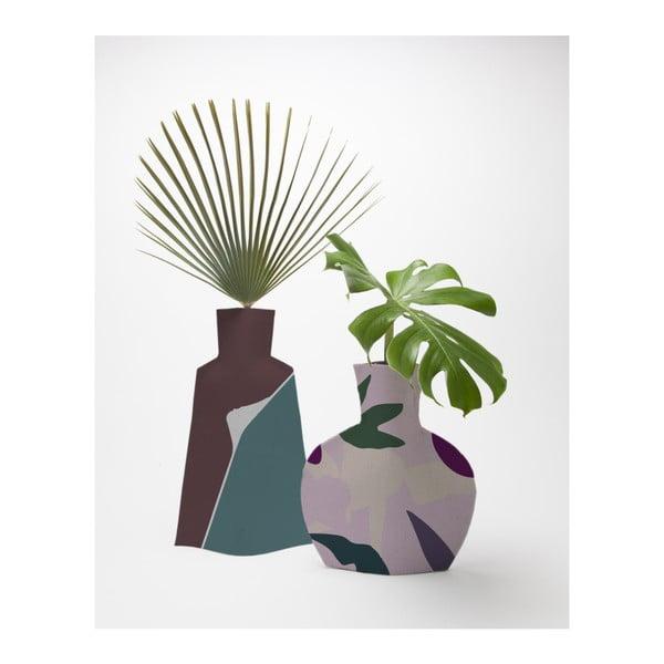 Sada 2 květináčů Surdic Flower Vases Lilac Color Blocks