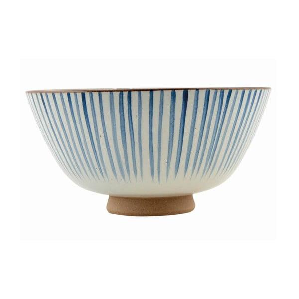 Ručně malovaní mísa Stripes Blue, 20x10 cm