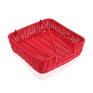 Červený košík na papírové ubrousky Versa Wonda, 20x20cm