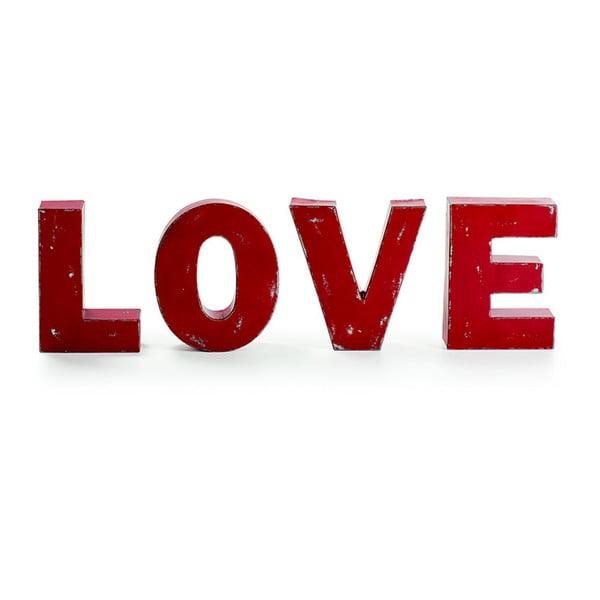 Sada čtyř dekorativních písmen Love
