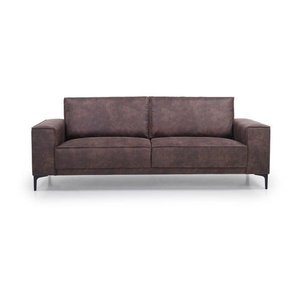 Czekoladowa sofa 3-osobowa Softnord Copenhagen