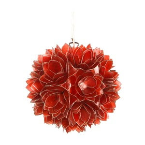 Perleťové závěsné světlo Lotus, červené