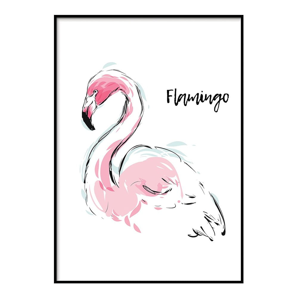 Plakát DecoKing Flamingo Aquarelle 100 x 70 cm