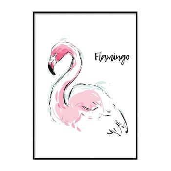 Poster DecoKing Flamingo Aquarelle, 50 x 40 cm
