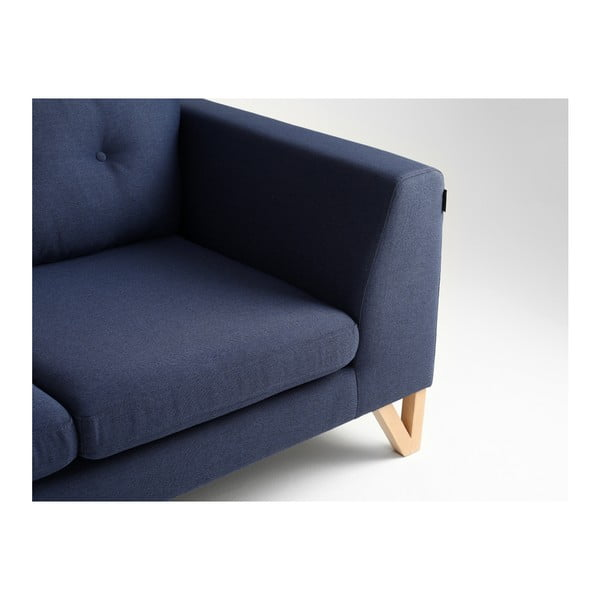Tmavě modrá dvoumístná pohovka Custom Form Willy