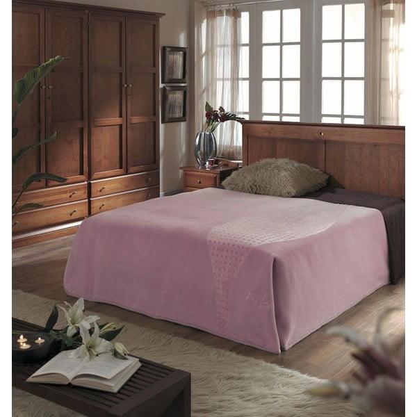 Přehoz Piel Koc růžový, 220x240 cm