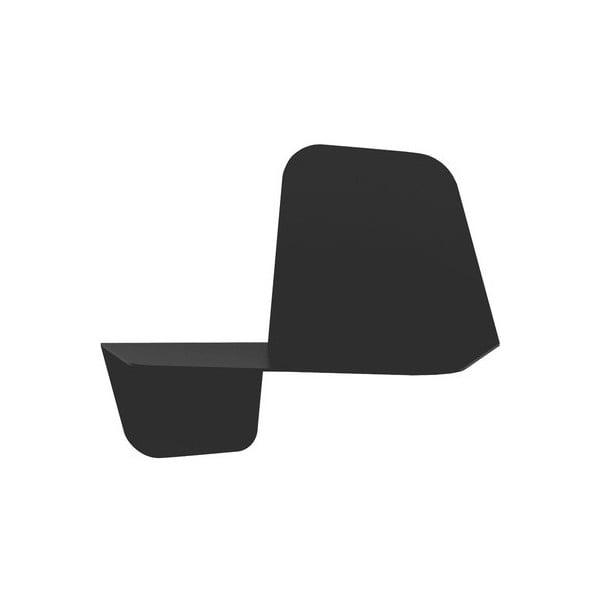 Černá nástěnná police MEME Design Flap, 42cm