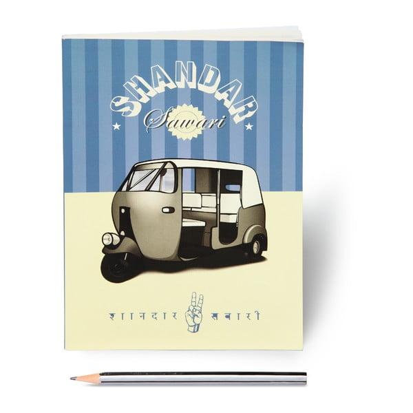 Zápisník Jalebi Auto - Rickshaw Fun, A5