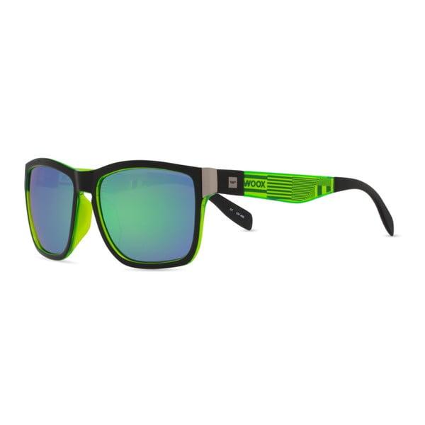 Okulary przeciwsłoneczne z czarno-zielonymi oprawkami Woox Speculum