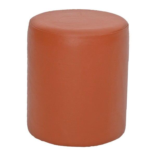 Oranžový kulatý puf Rodhio