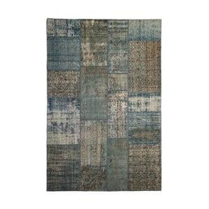 Vlněný koberec Allmode Patchwork Blue, 150x80 cm