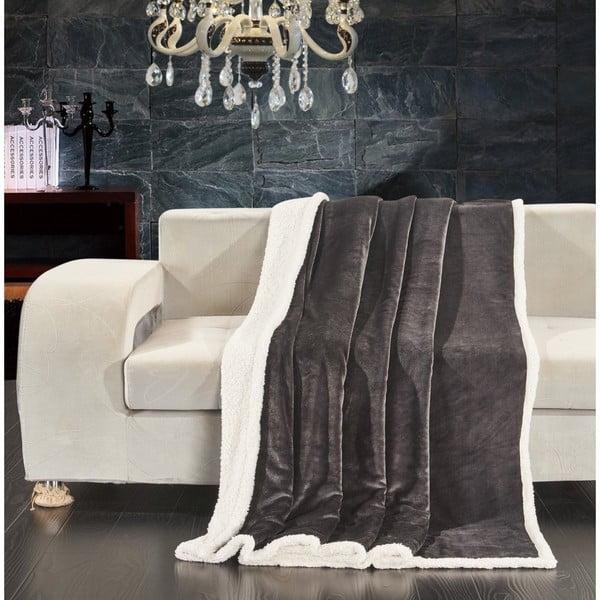 Šedá deka z mikrovlákna DecoKing Teddy Dimgray, 150 x 200 cm