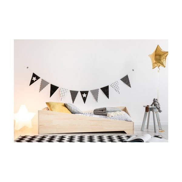 Dětská postel z borovicového dřeva Adeko BOX 7, 100x200 cm