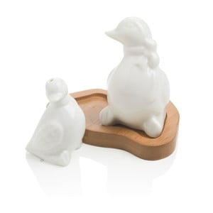 Slánka a pepřenka s podnosem Brandani Duck