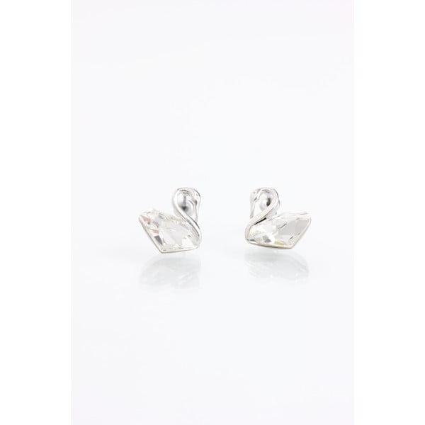 Swans fülbevaló Swarovski Elements kristályokkal - Laura Bruni