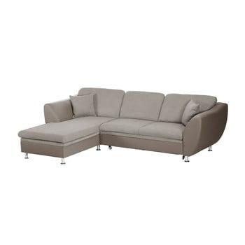 Canapea extensibilă cu șezlong pe partea stângă Florenzzi Maderna Taupe