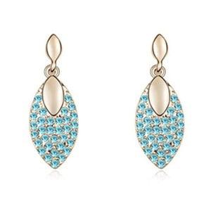 Pozlacené náušnice s modrými krystaly Swarovski Vie