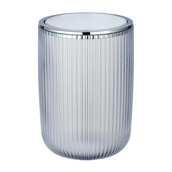 Coș de gunoi Wenko Acropoli, 5,5l, alb argintiu