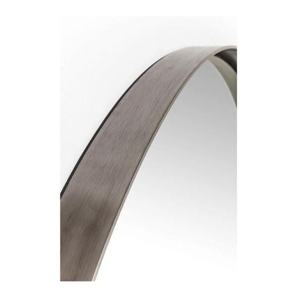 Oglindă rotundă cu ramă neagră Kare Design Round Curve, ⌀ 100 cm