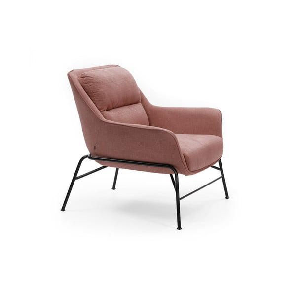 Różowy fotel Teulat Sadira