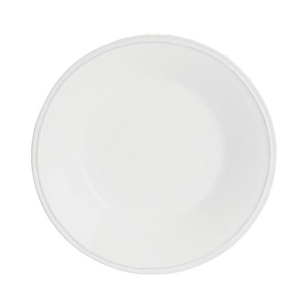 Bílý kameninový polévkový talíř Costa Nova Friso, ⌀26cm