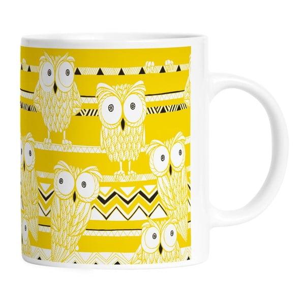 Keramický hrnek Yellow Owls, 330 ml