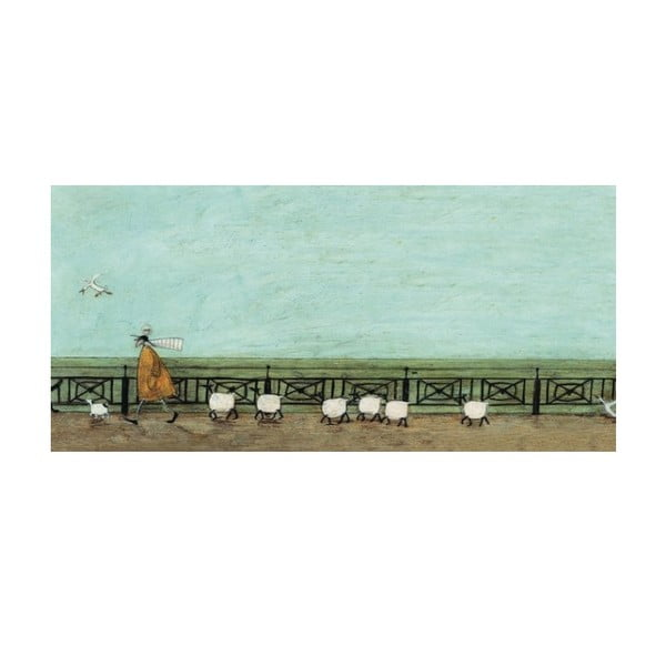 Obraz na plátně V řadě za sebou od Sam Toft, 100x50 cm