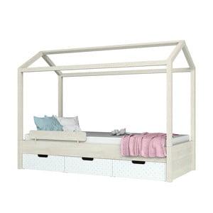 Domeček k jednolůžkové posteli z dubového masivu Dotties Domeček