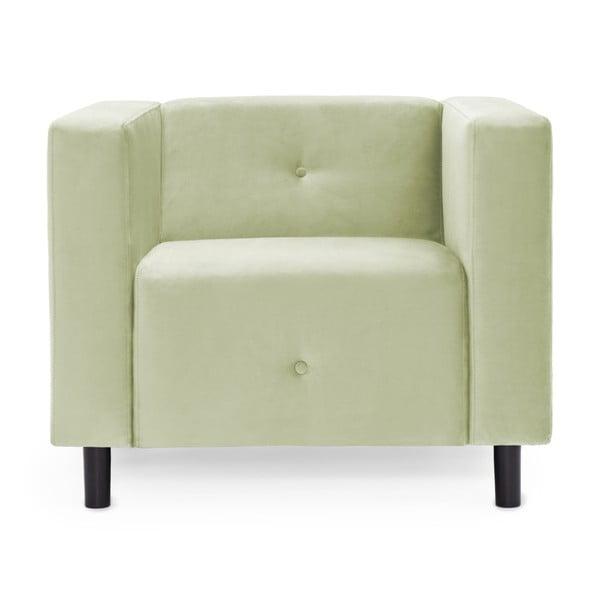 Jasnozielony fotel Vivonita Milo