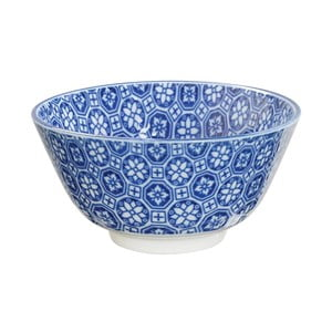 Modrá porcelánová miska na rýži Tokyo Design Studio Flower, ⌀12cm