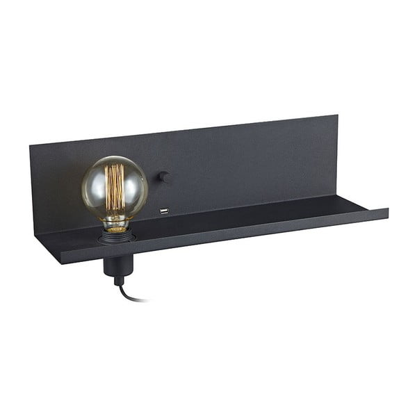 Černé nástěnné svítidlo s USB nabíjecí stanicí Markslöjd Multi