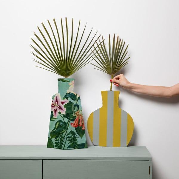 Sada 2 květináčů Surdic Flower Vases Turquoise Flowers