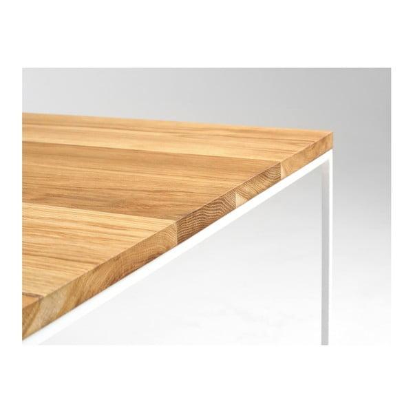 Măsuță de cafea cu blat din lemn de stejar Custom Form Tensio, 100 x 100 cm, alb-natural