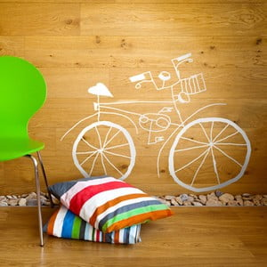Samolepka Bicycle White, 58x79 cm