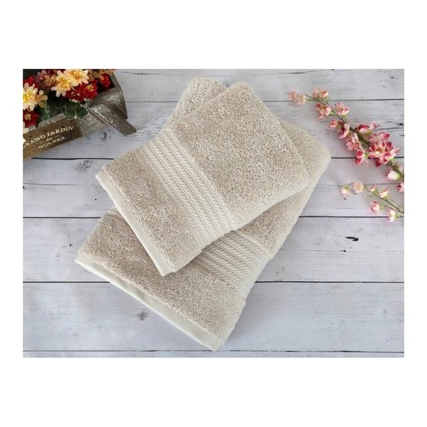 Béžový ručník Irya Home Egyptian Cotton, 50x90 cm